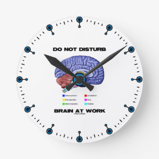 No perturbe el cerebro en el trabajo (el humor ana reloj redondo mediano