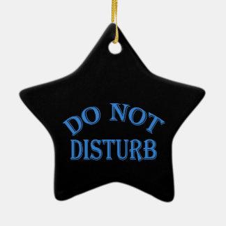 No perturbe - el fondo negro adorno navideño de cerámica en forma de estrella