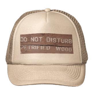 No perturbe el gorra de madera aterrorizada