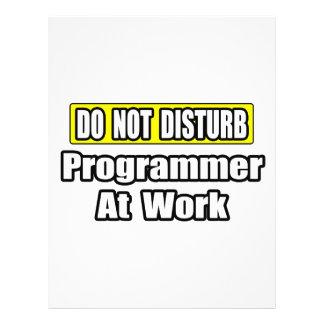 No perturbe… el programador en el trabajo flyer personalizado