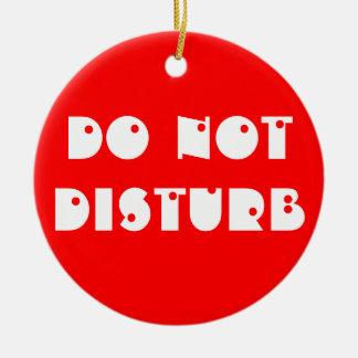 No perturbe/entre en el ornamento de la suspensión adorno redondo de cerámica