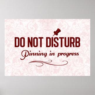 No perturbe. Fijación en curso Póster