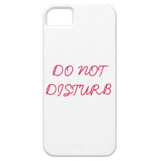 No perturbe funda para iPhone 5 barely there