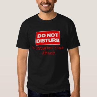 NO PERTURBE la camiseta Poleras