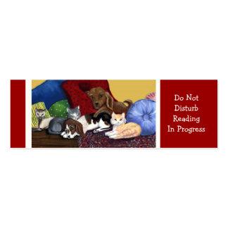 No perturbe la lectura en curso tarjetas personales