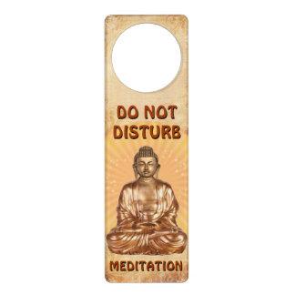 No perturbe la meditación colgador para puerta