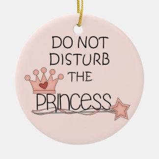 No perturbe la suspensión de la princesa puerta adornos