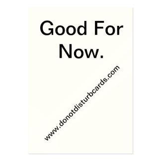 No perturbe las tarjetas. COM (buena para ahora.) Tarjetas De Visita Grandes