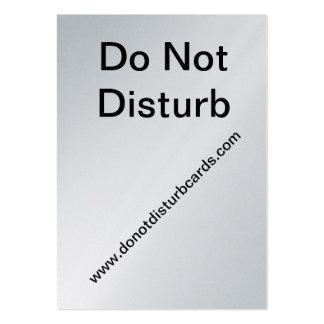 No perturbe las tarjetas. COM (no perturbe la tarj Tarjetas De Visita Grandes