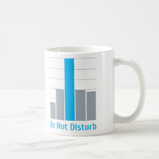No perturbe taza básica blanca
