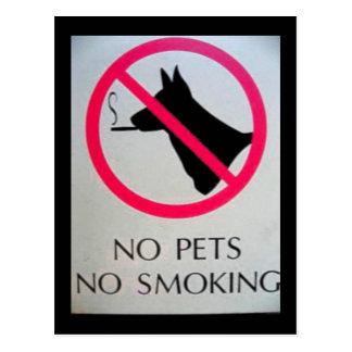 No Pets Postcards