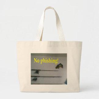 No phishing canvas bags