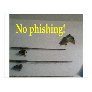 No phishing! postcard