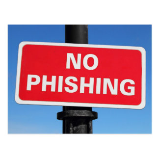 No Phishing Sign Postcards