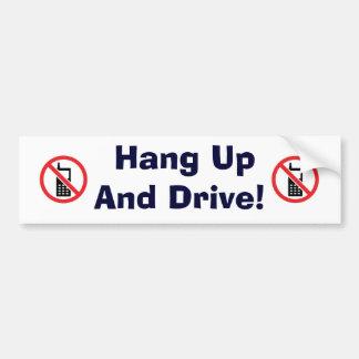 No Phone Car Bumper Sticker