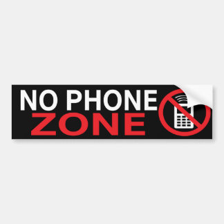 No Phone Zone Custom Bumper Sticker