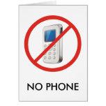 No Phone Zone Greeting Card