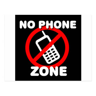 No Phone Zone Postcard