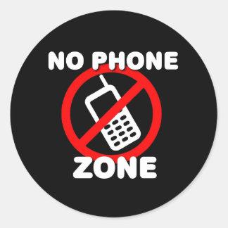 No Phone Zone Round Sticker