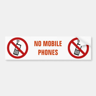 NO PHONE ZONE Sign - Bumper Sticker