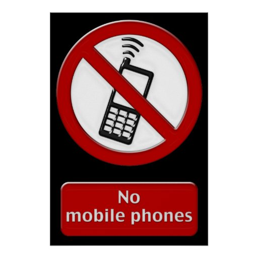 no phone zone sign
