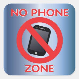No phone zone square sticker