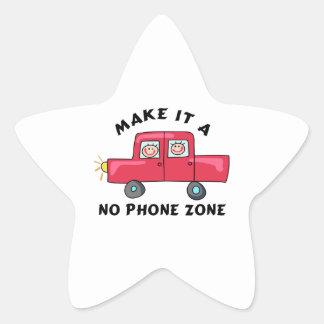 NO PHONE ZONE STAR STICKER