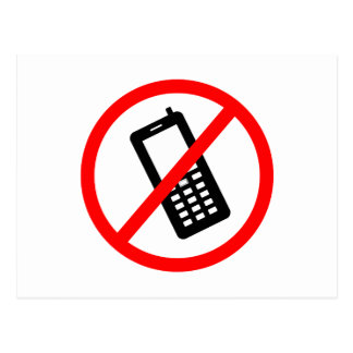 No phones Allowed, Turn Off your Cellphone Postcard