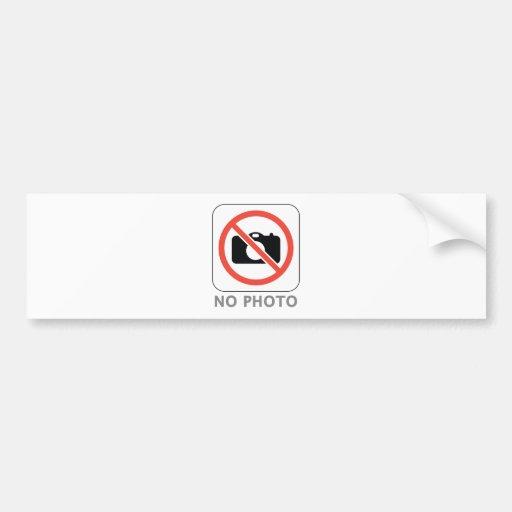 No Photo Car Bumper Sticker