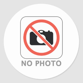 No Photo Classic Round Sticker