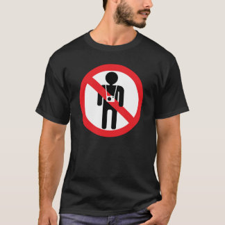 no photographer allowed sign T-Shirt