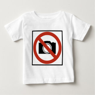No Photography Highway Sign Baby T-Shirt