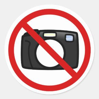 No photography, no cameras classic round sticker