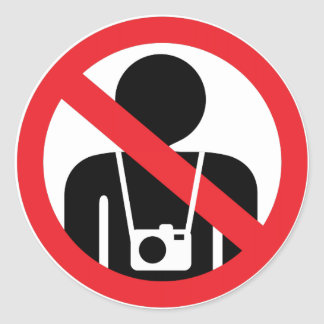 no photography sign sticker