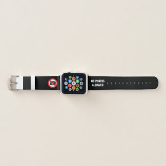 No Photos Allowed Apple Watch Band