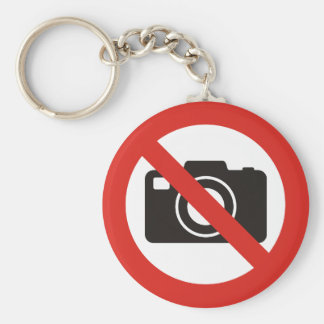 No Photos Allowed Keychain