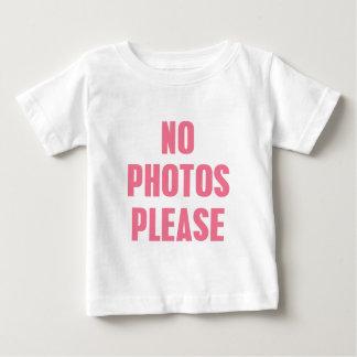 No Photos Please Baby T-Shirt