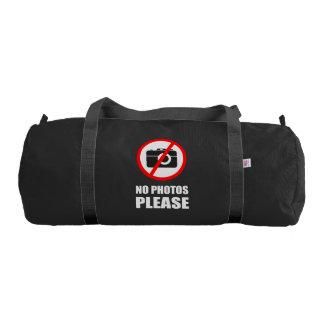 No Photos Please Gym Bag