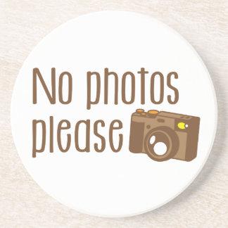No Photos Please with vintage Camera Coaster