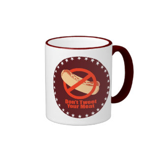No pia su carne taza de café