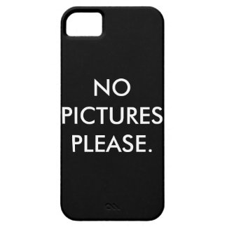 no pictures please iPhone SE/5/5s case