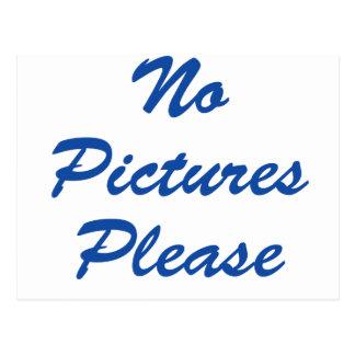 No Pictures Please! Postcard