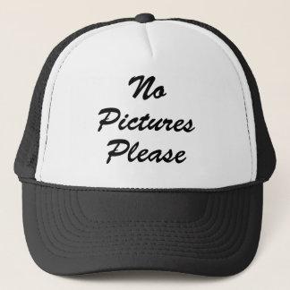 No Pictures Please Trucker Hat
