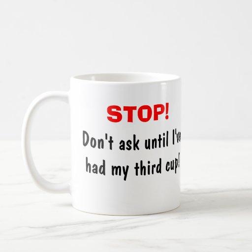 No pida taza básica blanca