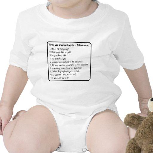 No pida un PhD Traje De Bebé