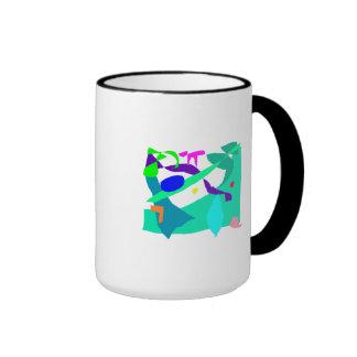 No piense en la sensación de la selva apenas su taza de dos colores