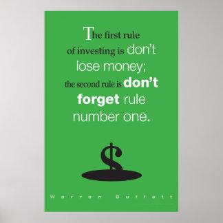 No pierda el dinero póster