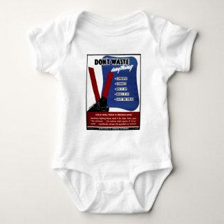 No pierda la chatarra body para bebé