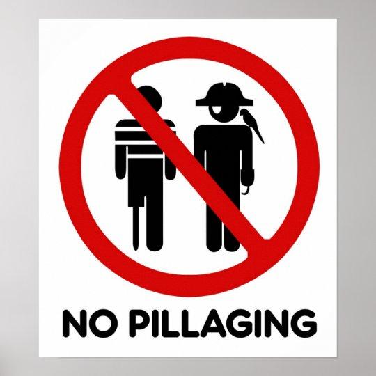 No Pillaging - Poster