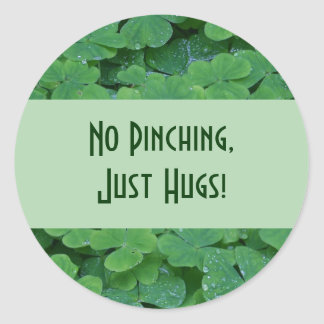 No Pinching Round Sticker